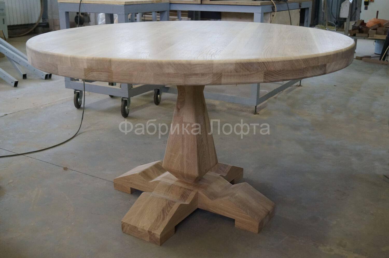 Круглый стол из дуба 1200 мм