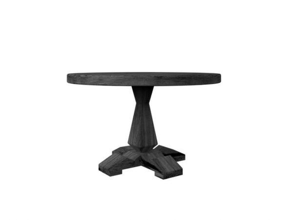 Круглый стол из дуба 1200 мм венге