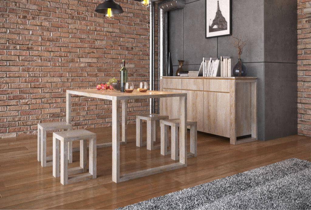 Стол обеденный и комплект стульев