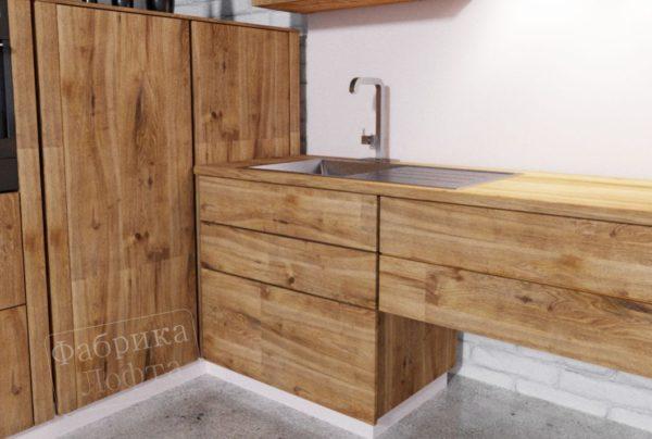 Кухонный шкаф из массива КС-4