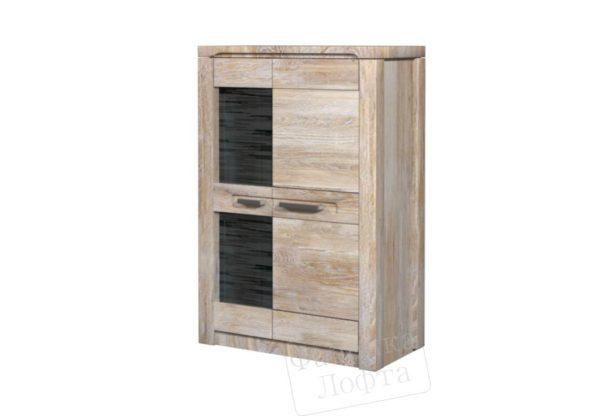Шкаф с витриной двухдверный