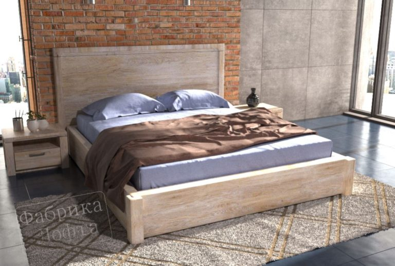 Спальня в стиле лофт Нарвик
