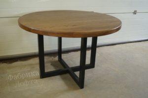 Круглый стол Форт на металлическом подстолье