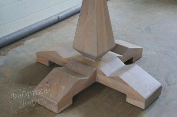 Овальный стол Лофт из дуба