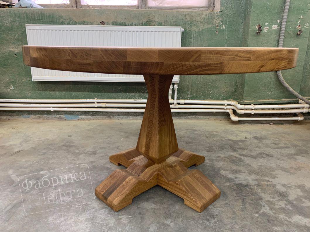 Круглый стол Лофт из дуба